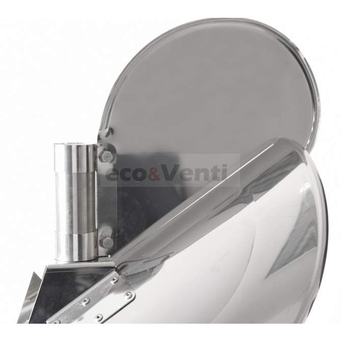 Self-adjusting chimney cowl with external bearing    Stainless Steel 1.4404 0,6mm