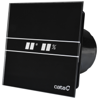 CATA E-100 GTH BLACK - Domestic Wall Fan | Bathroom