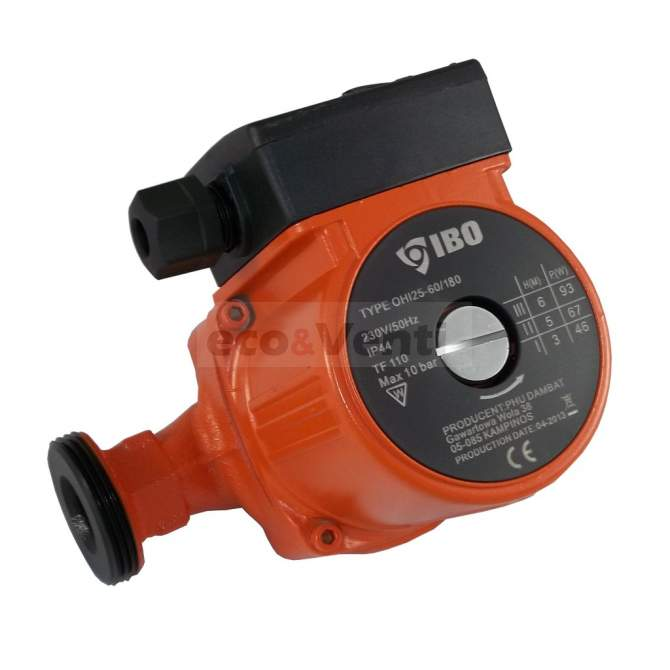 IBO OHI 25-60/180 | Hot Water Circulation Pump Central Heating