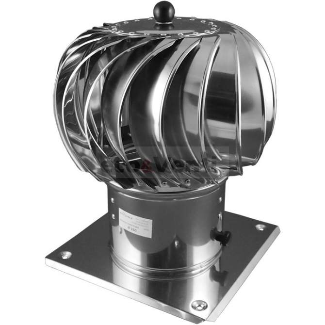Rotary Chimney Cowl Cap | 150 mm | Stainless Steel