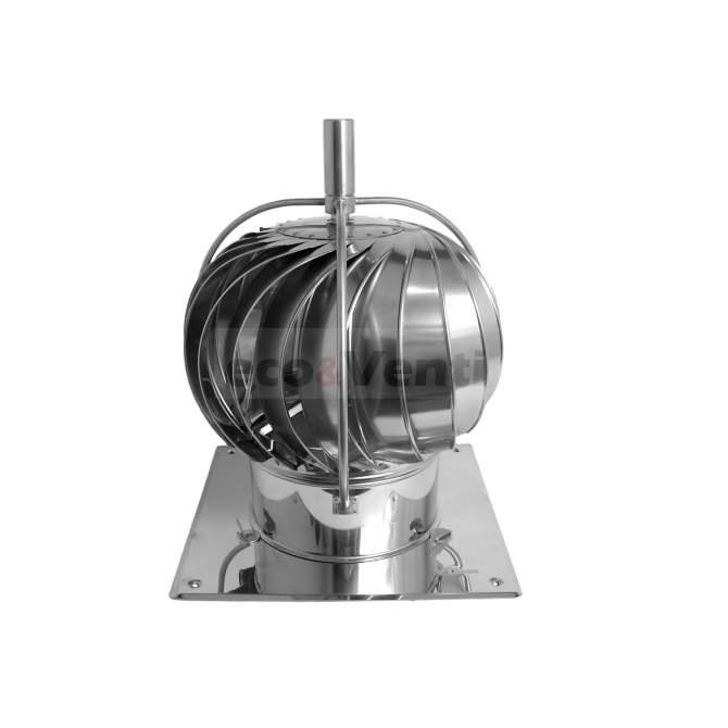 TURBOWENT TUZ CHROME - Capuchon de cheminée à ouverture rotative  avec roulements externes | DARCO