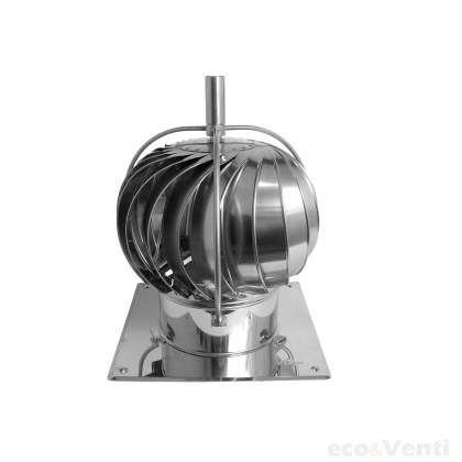TURBOWENT CHROME  - Rotary Chimney Cowl Cap with base & external bearings | DARCO