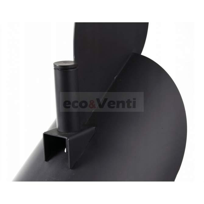 Self-adjusting chimney cowl Black 2mm