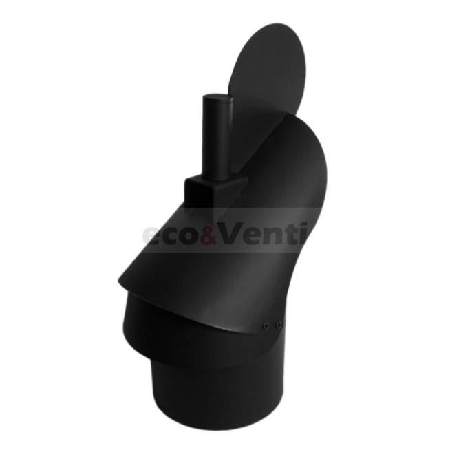 Carbon steel Self-adjusting chimney cowl Black 2mm