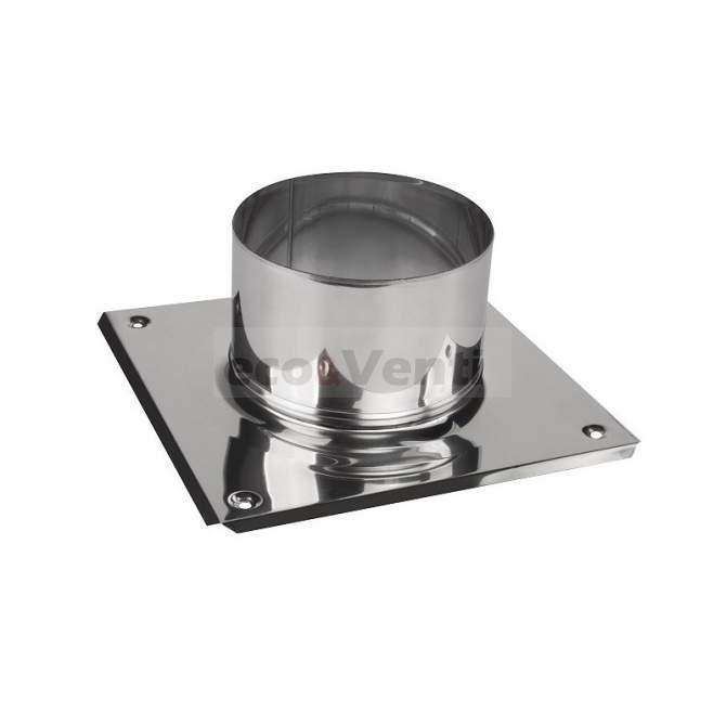 Base cuadrada para chimenea 0,6mm 1.4404