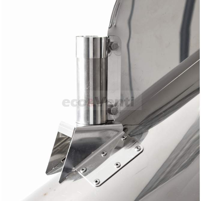 Self-adjusting chimney cowl with external bearing |  Stainless Steel 1.4404 0,6mm
