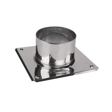 Base cuadrada para chimenea 0,6mm